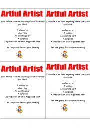 English Worksheets: artful artist