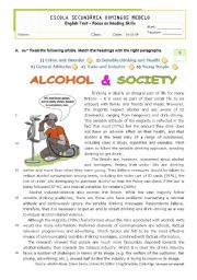 English Worksheet: Teens and addictions  -