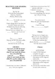 English Worksheets: beautiful liar