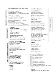 English Worksheet: Song: We are the world 25