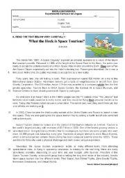 English Worksheet: Test 10th Grade