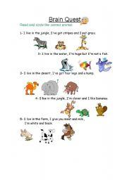 English Worksheets: Circle the animal
