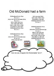 English Worksheet: Old McDonald had a farm