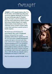 English Worksheets: twilight reading passage