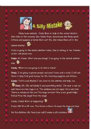 English Worksheets: A Silly Mistake