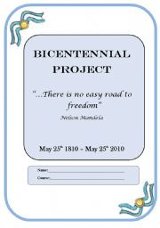 English Worksheet: BICENTENNIAL PROJECT
