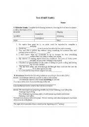 English Worksheets: Blank Filling
