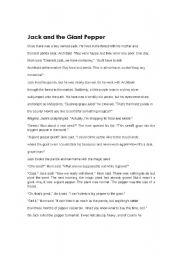 English Worksheets: jack and big pepper