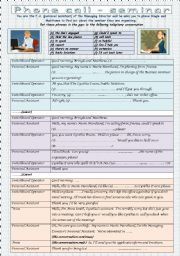English Worksheet: Phone call