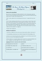 English Worksheet: Reading test - The Boy in the Striped Pyjamas (Chapter 6)