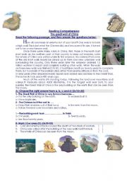English Worksheet: Reading Comprehension about the great wall of China and Ancient Egypt