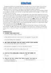 English Worksheets: A Gifted Youth