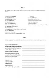 English worksheet: avril lavigne song skater boy