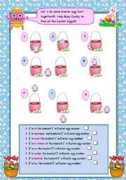 English Worksheet: Easter egg hunt