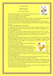 English Worksheet: Easter Short Funny story