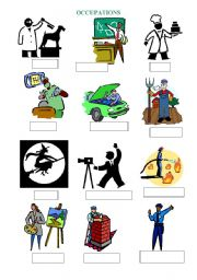 English Worksheets: Occupations with empty captions