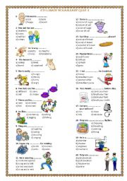 english exercises  grade  vocabulary quiz th grade vocabulary quiz  level  elementary  age       downloads