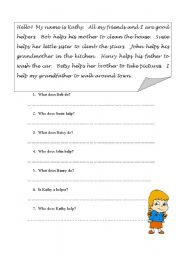 Printables Esl Reading Comprehension Worksheets english teaching worksheets reading comprehension simple comprehension