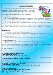 English Worksheets: Dream or reality?