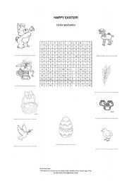 English Worksheet: Easter Word Search