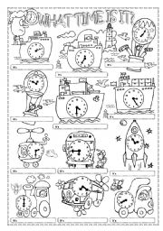 English Worksheet: WHAT TIME IS IT?(2)