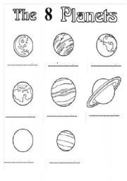 Worksheets Planets Worksheets english teaching worksheets the planets planets