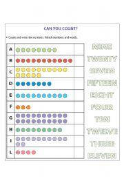 1-20 Missing Number Worksheet | Kids Worksheets Org