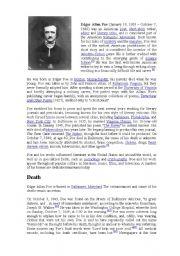 English Worksheets: Poe