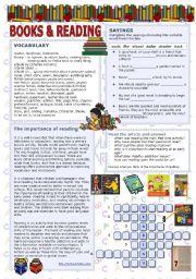 English Worksheets: Books & reading
