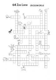 English Worksheets: 64 Zoo Lane Crosswords