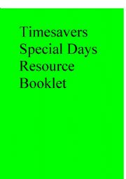 English Worksheets: Timesavers Special Days Resource Booklet