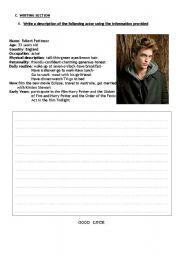 English Worksheets: Writng