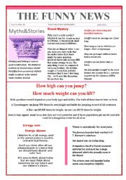 English Worksheet: Funny News issue number 35 conversation,reading and writing prompts