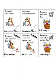 English worksheet: Job2