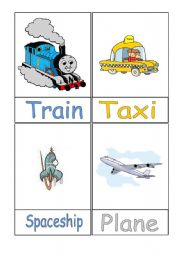 English Worksheet: Means of Transport Flashcards - Part 2/3
