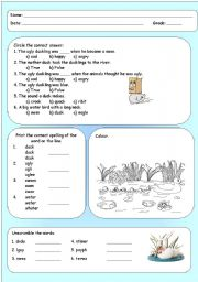 English Worksheet: The Ugly duckling