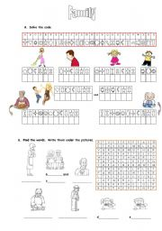Family decoding and wordsearch