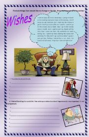 English Worksheet: Wishes