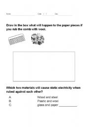 Static electricity worksheet grade 9 pdf