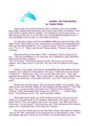 English Worksheets: maisie and the dolphin