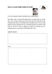 English Worksheets: Three�s a crowd - writing practise
