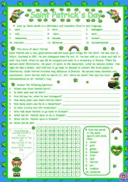 English Worksheet: SAINT PATRICK´S DAY - STORY
