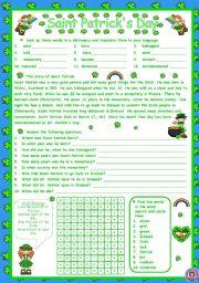 English worksheet: SAINT PATRICK´S DAY - STORY
