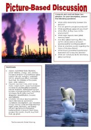 English Worksheet: Picture-Based Discussion (28): The Environment(3): Global Warming