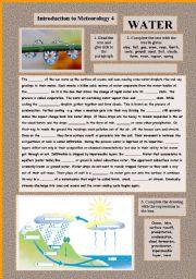 English Worksheet: Introduction to Meteorology 4 WATER