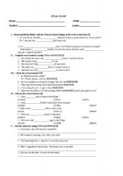 English Worksheet: ONE/ONES-TOO/ENOUGH-WHO/WICH-HOW MUCH/MANY