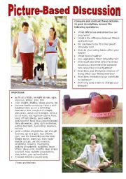 English Worksheet: Picture-Based Discussion (40): Fitness and Wellness
