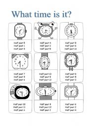 English Worksheets: What time is it? Multiple choice ex about half hours