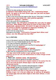 English Worksheet: KEYS to THE RUGBY EXPERIMENT