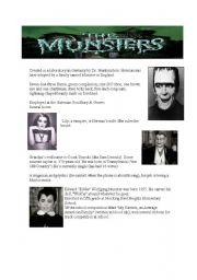 English Worksheets: the munsters-herman peace offensive